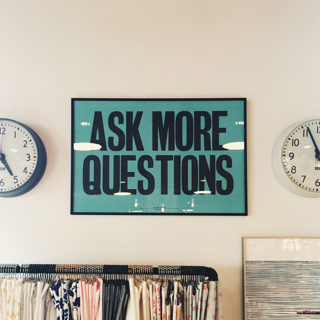 We ask questions as part of our Website Design Packages
